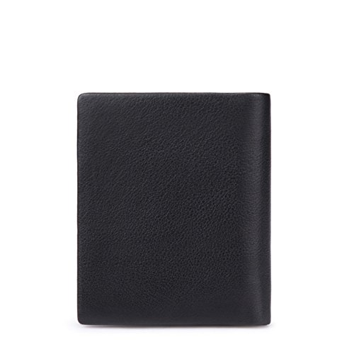 Hombre Carteras,Extra Capacidad Cuero Plegable Carteras Business Elegante-A 12x10cm(5x4inch) A