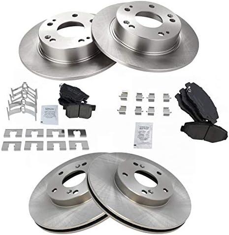 Rear Drilled And Slot Brake Rotors /& Ceramic Pads For 02-04 Honda CR-V 2.4 L4