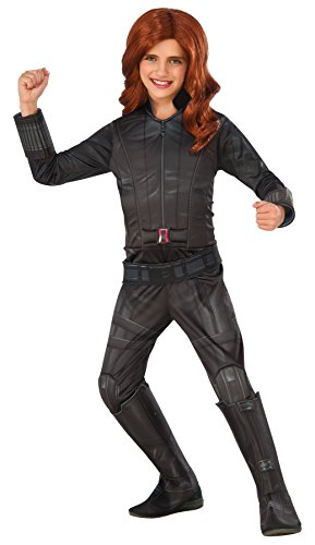UHC Civil War Black Widow Deluxe Outfit Movie Theme Child Halloween Costume, Child M (Hawkeye And Black Widow Halloween Costumes)