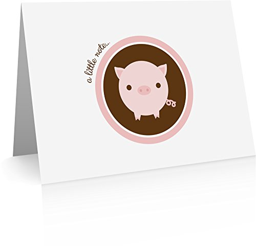 Pig Note Cards (24 cards with blank -