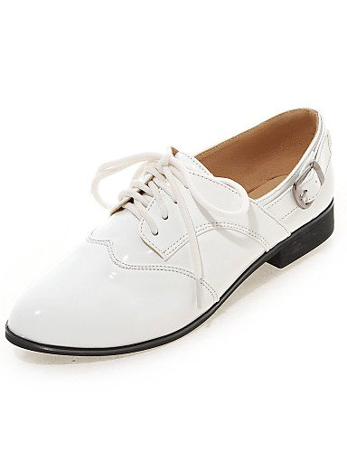 uk6 Tacón white Vestido Patentado red Bajo us8 2016 ZQ Zapatos de eu39 Oxfords Negro us8 5 red cn39 Blanco Redonda Cuero mujer eu38 eu39 Casual uk6 us7 Tacones Punta cn38 5 cn39 Rojo uk5 TvIvq4npOx