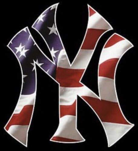 Creative Club Stickers New York Yankees American Flag Decal Car Window Laptop USA Art Poster NY Vinyl