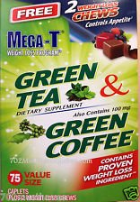 Mega T Green Tea Dietary Supplement 100 Caplets