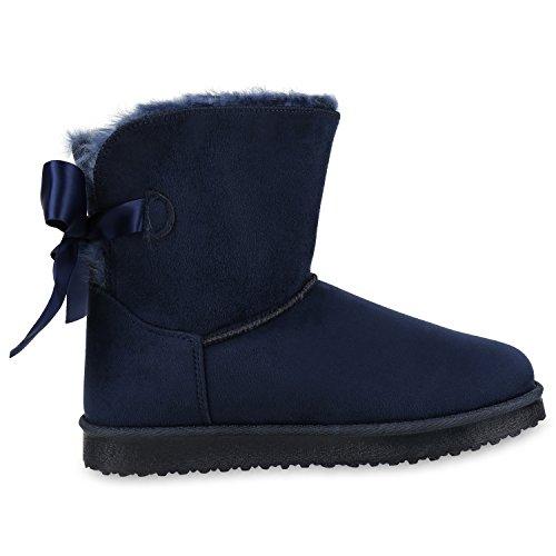 8a9f820ea1dcec Gefütterte fashion Dunkelblau Schuhe Schlupfstiefel Napoli Jennika Damen  Stiefel Bequemeamp  Warm nOP0wk8