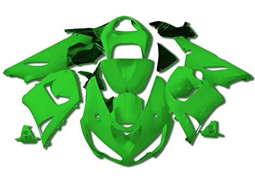 (Sportbike Deals AZDK303GRN Body Kit (Kawasaki Zx-6R/636 2005-2006, Abs Plastic Painted Green))
