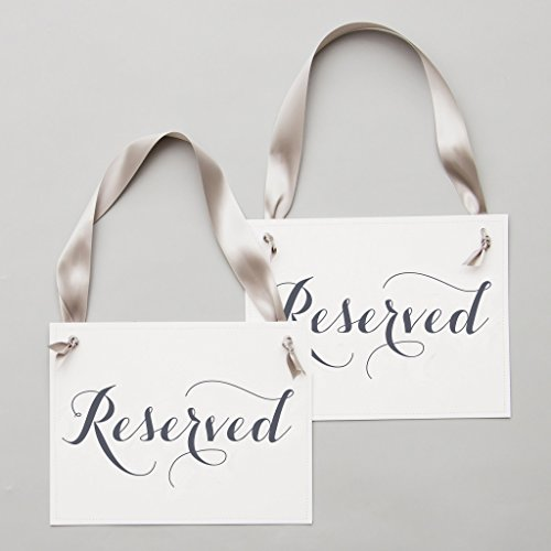 Check expert advices for reserved signs for wedding chairs?
