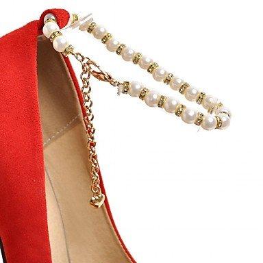 Lvyuan Noche Vestido Mujer Imitación Tacones Paseo Confort Boda Sintético Perla Casual Primavera Pu Fiesta ggx Otoño De Ruby Y Innovador 46rqPxU54w