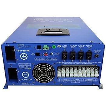 Amazon aims power 4000 watt 12 vdc to 120 vac pure sine aims power 12kw 48v dc to 120240v ac split phase pure sine inverter charger w 36kw surge publicscrutiny Choice Image