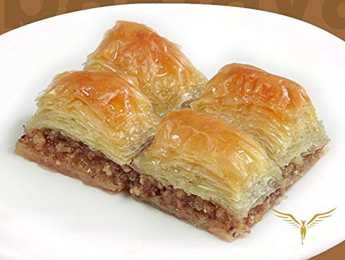 Luxury Baklava with Walnuts Wholesale box Contains 5 Trays, total 33lb Baklava big cut mouthful pieces by Shonti (Image #1)
