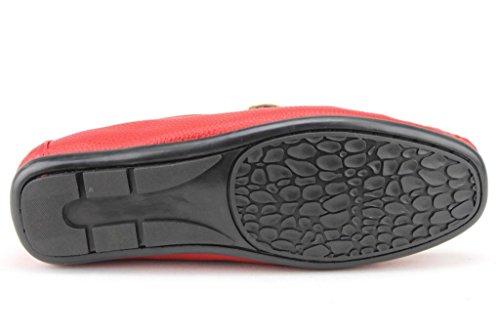 Heren M4010-1 Slip Op Mocassin-stijl Met Loafers Schoenen Rood