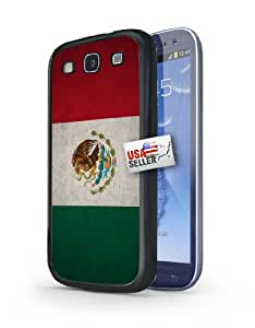 Mexico Mexican Grunge Vintage Flag Black Plastic Cover Case for Samsung Galaxy S3