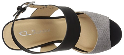 Women's by Sandal Grey Brinn Laundry Black CL Wedge Chinese fvnxzqw11U