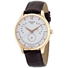 Tissot Men's T0636373603700 Tradition Rose Gold Watch with Embossed Band