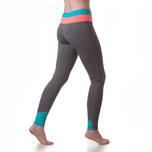 Tall Womens Clothing (Tall Extra Long Yoga Pant For Tall Women (Medium - Tall, Coral/Neon Blue))