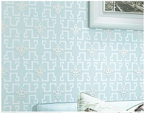 - Wallpaper Non-Woven Modern Minimalist Light Blue Plaid Wallpaper for Livingroom Bedroom Home Decoration Paper Roll