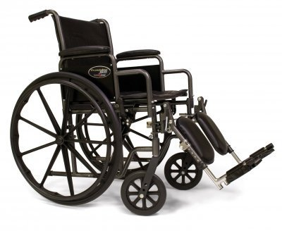 Everest & Jennings Traveler SE Wheelchair 16 X 16 Detachable Desk Arm, Elevating Legrest 16 Detachable Desk Arm