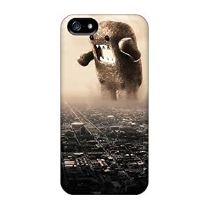 Hot Fashion FJa11514fhET Design Cases Covers For Iphone 5/5s Protective Cases (domo Kun)