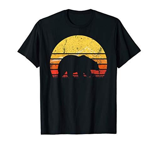 Vintage Retro Polar Bear Silhouette Sun Animal Lover T-shirt