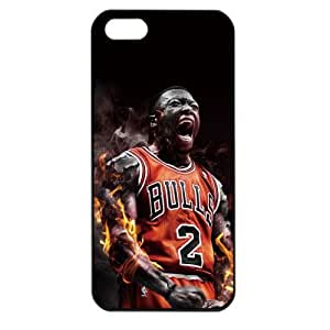 NBA Chicago Bulls Nate Robinson Case For Iphone 4/4S Cover PC Soft (White)