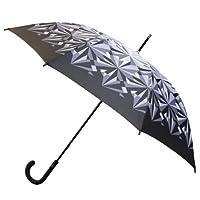 Nicole Miller 48 Inch Fashion Stick Umbrella, Purple Crane Print, One Size