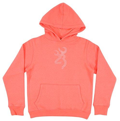 (Browning Youth Buckmark Hoodie | Coral | Medium)