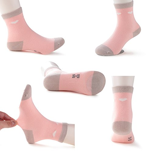 SUNBVE Little Girls' Sweet Fancy Cotton Casual Crew Socks 5 Pairs Pack by SUNBVE (Image #4)