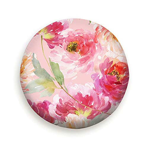 Summer Watercolor Flowers Handmade Nature Water Proof Dust-Proof Universal Spare Wheel Tire Cover Fit for Many Vehicle 14-17Inch Diameter - Bouquet Innocence