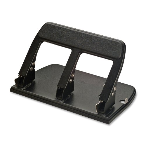 Officemate Heavy Duty 3 Hole Punch with Padded Handle, 40-Sheet Capacity, Black (90089) ()