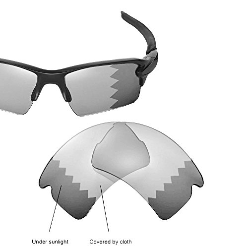 Cofery Replacement Lenses for Oakley Flak 2.0 XL Sunglasses - Multiple Options Available (Transition/photochromic - - Photochromic Flak