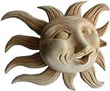 Medium Natural Carved Wood Sunface