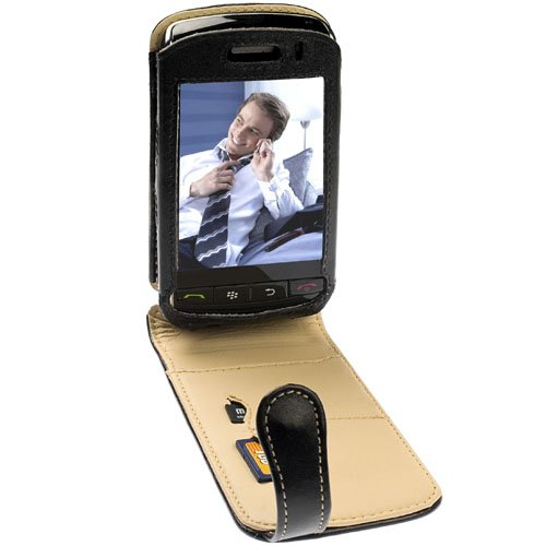 Krusell Orbit Flex Multidapt Leather Case with Ratchet Swivel Clip for BlackBerry Storm 9500/9530 - Black