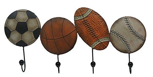 Sport Balls Metal Wall Hooks -