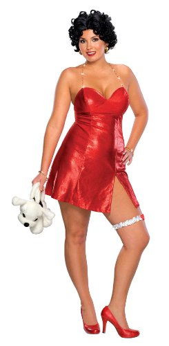 Betty Boop Halloween Costume Accessories (Secret Wishes Women's Plus Size Betty Boop Costume, Red, Plus)