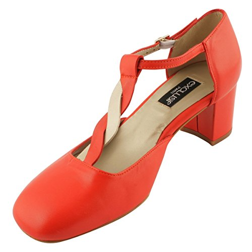 Exclusif Women's Court Paris Shoes Red 88qpZxw