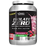 Inner Armour Isolate Zero All Natural Red Raspberry Flavor | Pre Workout 100% Whey Protein Isolate | Organic Protein Powder | Workout Supplements for Men & Women |'Master The Mix' for - 1.7 Pounds