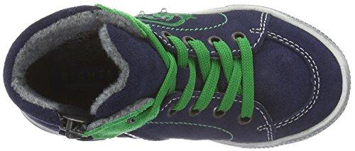 Richter Kinderschuhe Jungen Ola Hohe Sneakers Blau (atlantic/grass 7202)