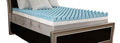 Comfort Essentials 4'' Gel Textured Memory Foam Topper, King by Comfort Essentials
