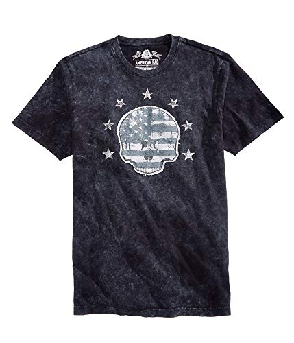 American Rag Mens Skull Graphic T-Shirt, Black, X-Large