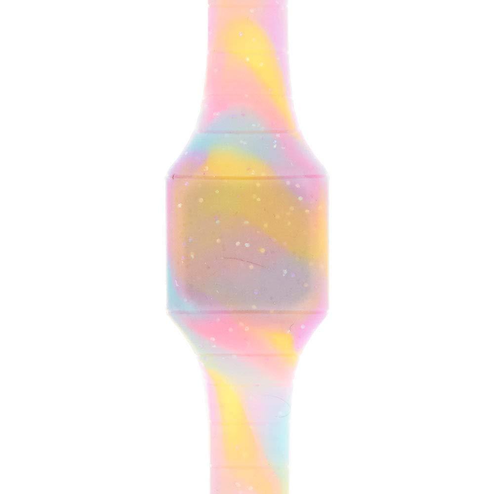 Claire de Chica de Purpurina Pastel Tie Dye Digital Blink Reloj en Color Azul/Rosa/Amarillo.: Claires: Amazon.es: Relojes