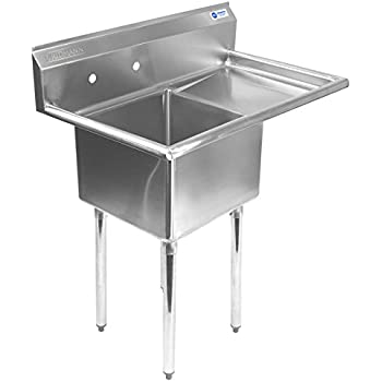 Charmant Gridmann 1 Compartment NSF Stainless Steel Commercial Kitchen Prep U0026 Utility  Sink W/ Drainboard