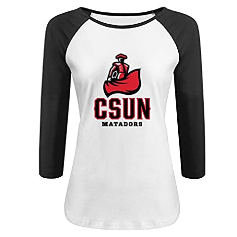 CSUN Northridge Women's custom Raglan T shirt - Custom Raglan T-shirts