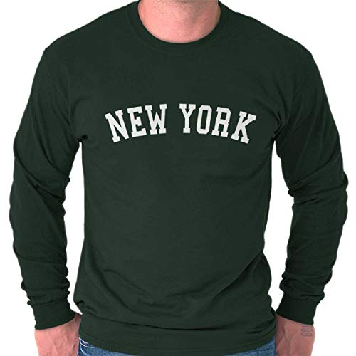 - New York State Shirt Athletic Wear USA T Novelty Gift Ideas Long Sleeve T