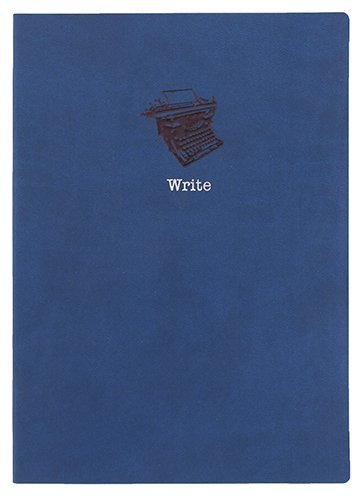 Blue Embossed Typewriter Leather Journal