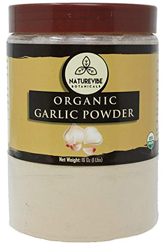 Naturevibe Botanicals USDA Organic Garlic Ground Powder, 1 Pound | Raw, Gluten-Free & Non-GMO | Healthy Spice | Adds Flavor and Taste [Packaging May Vary] ()