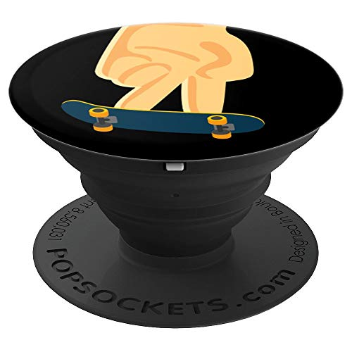 Fingerboard Skateboard Collapsible Pop Out Mount - PopSockets Grip and Stand for Phones and Tablets - Out Skateboard