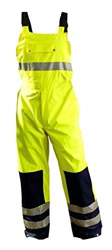 Occunomix LUX-TENBIB-YL Premium Breathable Bib Pant, Large, Yellow