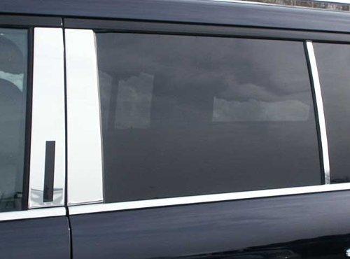 QAA FITS FLEX 2009-2019 FORD (6 Pc: Stainless Steel Pillar Post Trim Kit, 4-door, SUV) PP49341 Quality Auto Accessories