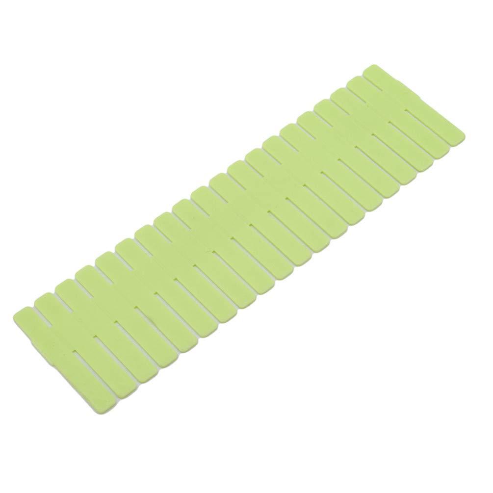 Plastik G/ürtel B/ürobedarf S Socken blau LWANFEI 4 x Gitter-Schubladenteiler DIY Schrank-Trenner ordentlicher Organizer Container f/ür Unterw/äsche