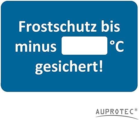 Auprotec Kundendienst Aufkleber Werkstatt Serviceaufkleber Auswahl 25 Stück Frostschutz Sicher Bis Auto