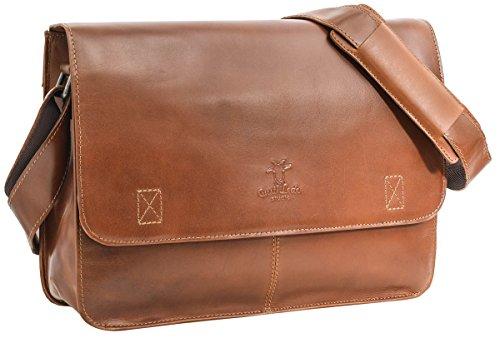 Gusti Leder studio 'Pharell' Genuine Leather Briefcase Business Office 13'...